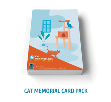 Cat Memorial Card Pack