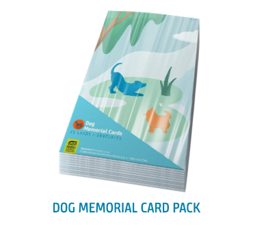 Dog Memorial Card Pack