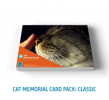 Cat Memorial Card Classic