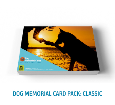 Dog Memorial Card Classic