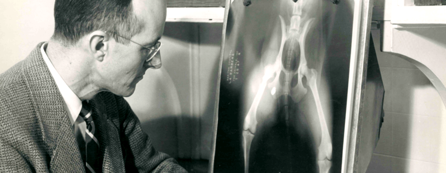 Mark Morris Sr. with x-ray