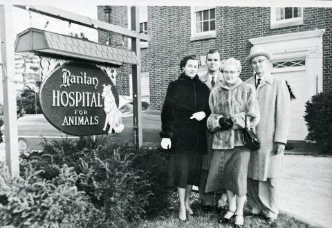 History_Morris family outside Raritan Hospital in NJ